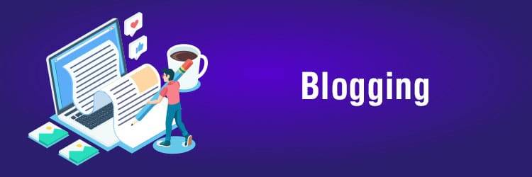 upcoming business ideas in india - blogging