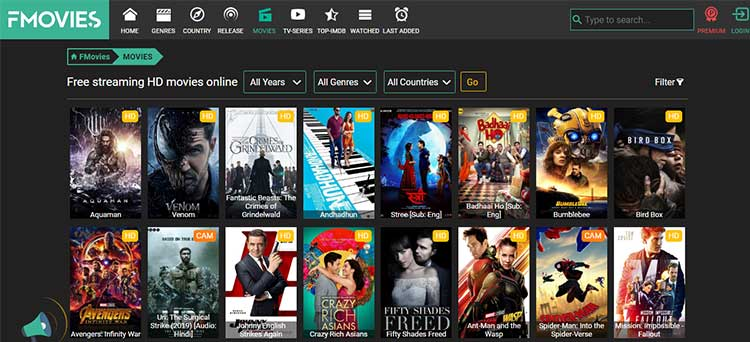 Watch best HD movies online popular free streaming website FMovies 2019