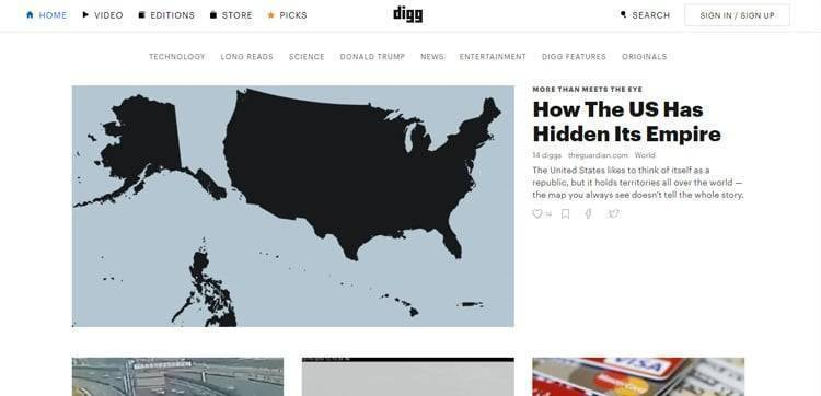 similar sites like digg