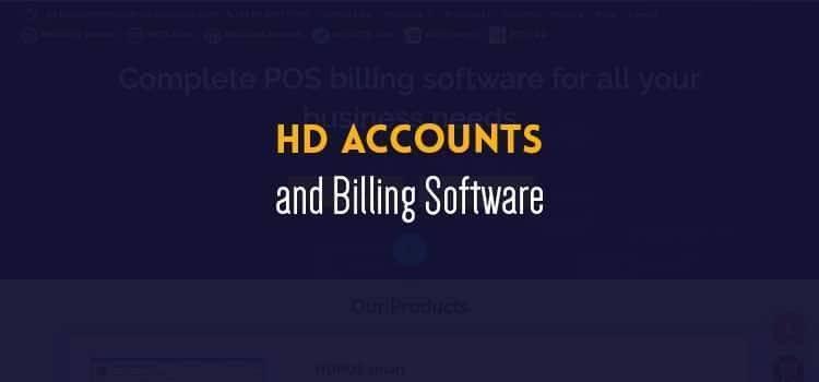HD Accounts and Billing Software