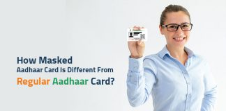 difference between regular and masked aadhaar