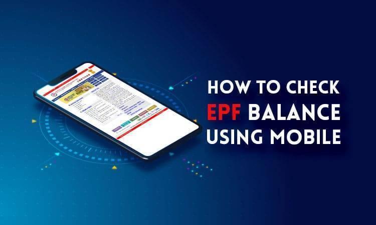 epf balance check through mobile