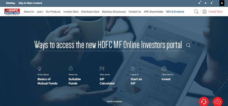 Ways to access the new HDFC MF Online Investors portal