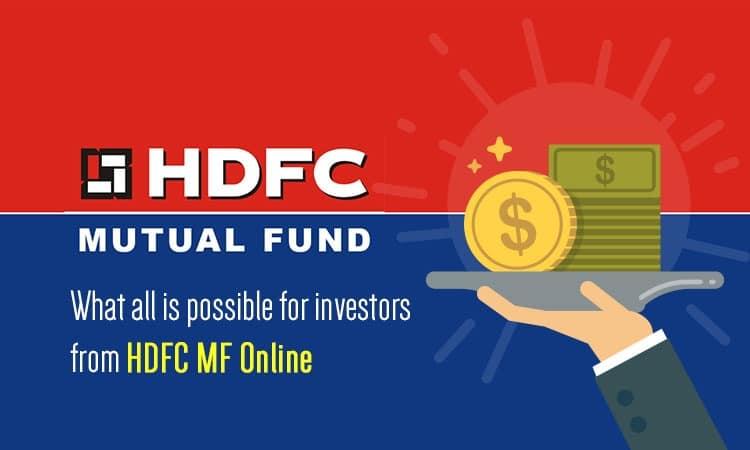hdfcmf online