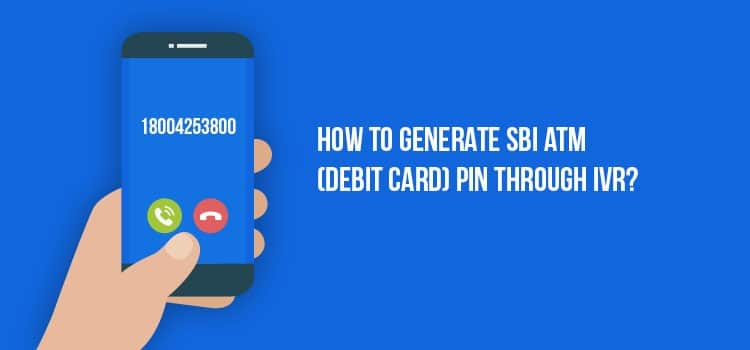 how to generate sbi atm pin by sms