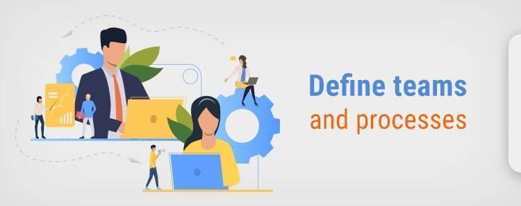 Define teams and processes