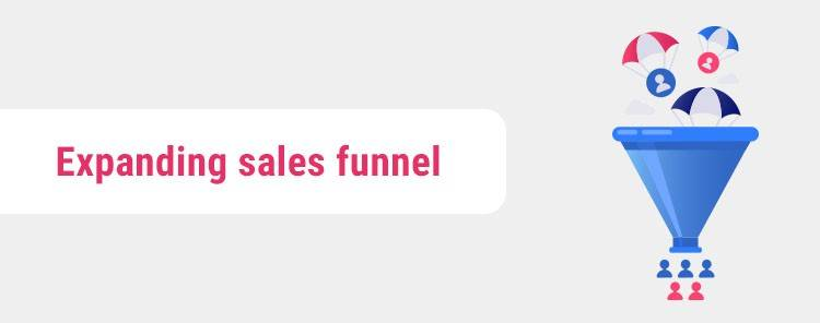 Expanding sales funnel